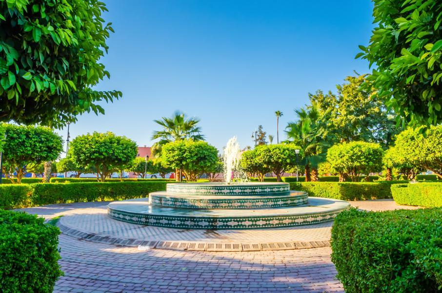frauenreise-marokko-marrakesch-park-1